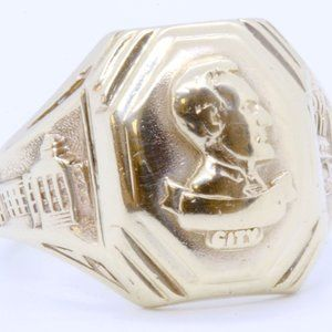 Dieges Clust 10K Yellow Gold Abraham Lincoln Ring